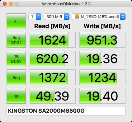 MVNe対応M.2SSDのベンチマーク結果