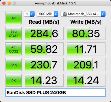 2.5インチSSDのベンチマーク結果