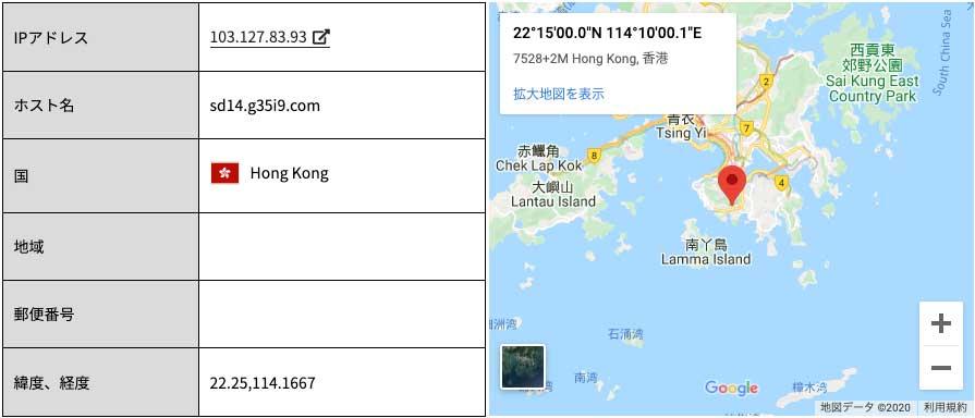 香港から来たフィッシング詐欺メール